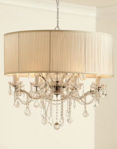 """Shaded """"Cascade"""" Chandelier - Eclectic - Chandeliers - by Horchow"""