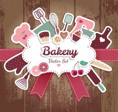 Bakery and sweets abstract illustration. Logo Dulce, Cooking Icon, Pink Sweets, Baking Logo, Bakery Business Cards, Bakers Kitchen, Cake Logo Design, Logo Cookies, Restaurant Menu Design