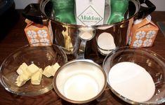 Slik lykkes du med makroner - trinn for trinn - Franciskas Vakre Verden Chocolate Fondue, Glass Of Milk, Food And Drink, Cheese, Baking, Drinks, Ethnic Recipes, Caramel, Drinking