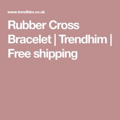Buy Fort Tempus - Rubber Cross Bracelet for only Shop at Trendhim and get returns. Liverpool Fc Badge, Stainless Steel Bracelet, Free Shipping, Bracelets, Bracelet, Bangles, Bangle, Arm Bracelets, Super Duo