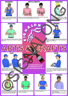 Arts & Craft Poster, J) Posters, Signalong Store Sign Language Book, Sign Language Chart, Sign Language Phrases, Sign Language Alphabet, British Sign Language, Learn Sign Language, Foreign Language, Sign Language For Toddlers, Makaton Signs