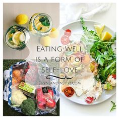 When you choose to eat healthy, nutritious foods you are showing yourself love and respect. Treat yourself well.  Fitness | Clean Eating | Beauty | Fashion | Inspiration @ ShyneandInspire.com