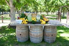 Oak, Whiskey, Wine Barrel Table