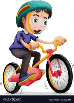 Buy Boy Riding a Bicycle by interactimages on GraphicRiver. Illustration of a young boy riding a bicycle on a white background English Activities, Activities For Kids, Sports Day Decoration, Drawing For Kids, Art For Kids, Bicycle Illustration, Boy Cards, Kids Ride On, Business Plan Template