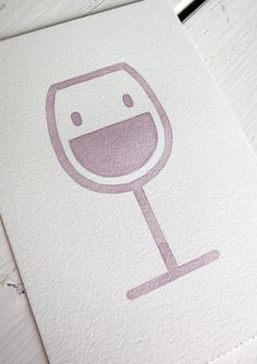 Happy #Wine #illustration (inked with Merlot '11)