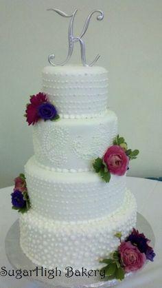 Wedding Cake. facebook.com/sugarhighllc