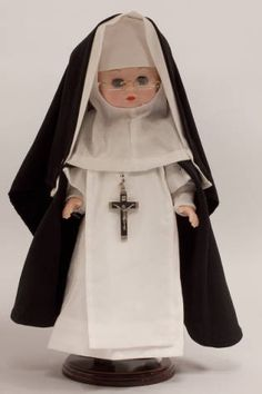 Doll wearing habit worn by Eucharistic Missionaries of St. Dominic :: Catholic Sisters International