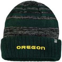 3c963f1f7e6 Oregon Ducks Top of the World Echo Cuffed Knit Hat - Heathered Charcoal -   23.99 Top
