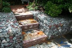 Gabions and steps
