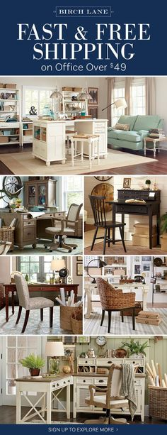 Office at birchlane.com! Sign up to find out more about FREE SHIPPING on all orders over $49!