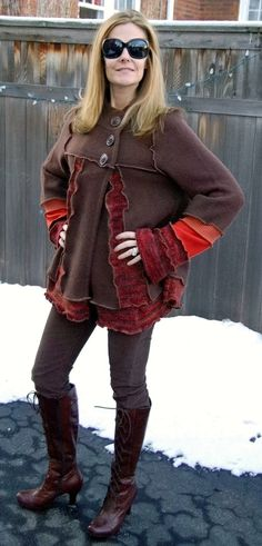 Recycled Sweater Coat RESERVED by archeologia on Etsy, $218.00