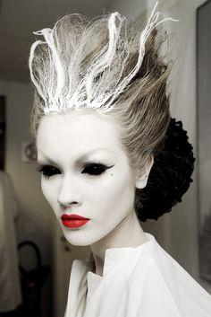 pretty ghost makeup & hair