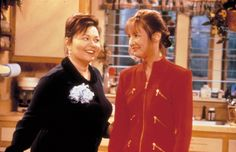 Roseanne and Laurie Metcalf Roseanne Tv Show, Roseanne Barr, Best Friends For Life, One And Only, Girlfriends, Tv Shows, It Cast, Halloween, My Love