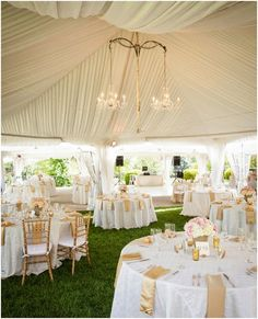 Belmont Mansion, Summer Wedding, Outdoor Ceremony & Reception, Tiffany Atlas Photography, Robertson's Flowers & Events, tent with chandeliers, white and gold linens