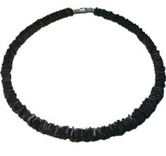 Native Treasure - Black Chips Puka Shell Necklace Surfer Beach Choker - 18 Inch by Native Treasure. $8.09. This Highly Praised Native Treasure Authentic Tropical Jewelry Puka Shell Necklace is Beautifully Hand-crafted in our Tropical Jewelry Shop by our own Native Island Artisans using 9-12mm Hand-selected Class 'A' Quality Shells.   .....Genuine Shells Indigenous to the Powder White Beaches of the Philippines. Truly Native Treasure!    .....It is our standar...