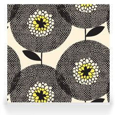 Skinny laMinx - Robin Sprong Surface Designer. Flower Fields Penny Black.