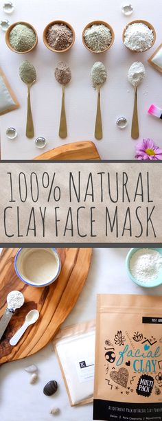 Clay is a natural from the earth ingredient that makes a deep cleansing detox and rejuvenating clay face mask. We combined our 4 favorite clays in one multipack that makes up to 25 face masks. Can you guess which types of facial clay are included? Clean Beauty, Diy Beauty, Beauty Hacks, Beauty Tips, Beauty Care, Beauty Products, Face Products, Organic Beauty, Organic Skin Care
