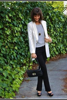 Never leave home without a cream blazer. My go-to is by none other than Smythe.