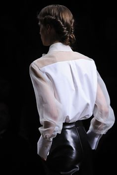Valentino Fall 2012 #shirt#chemise#chic#basic#etk