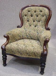 GENTLEMAN'S MAHOGANY ARMCHAIR. Arthur would love sitting here after a hard day of work!