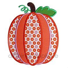 Five Layer Pumpkin Applique - 3 Sizes!