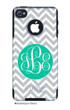 IPhone OtterBox Commuter Case for iPhone 7, 7 Plus, 6/6s, 6 Plus/6s Plus, 5/5s/SE, 5c Galaxy S7 S6 S5 Note 5 Monogrammed Skinny Chevron Case