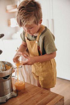 Our Kitchen - Barefoot Blonde by Amber Fillerup Clark Cute Kids, Cute Babies, Baby Kids, Baby Boy, Butcher Block Island, Amber Fillerup Clark, White Wash Brick, Barefoot Blonde, Baby Momma