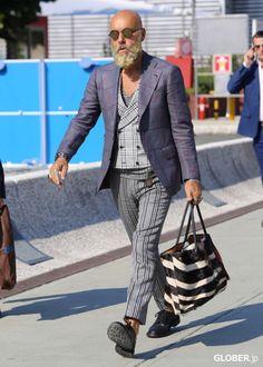 Gabriele Pasini via Glober Old Man Fashion, Mens Fashion Blog, Men's Fashion, Fashion Tips, Mens Style Guide, Men Style Tips, Tartan Men, Hipster Looks, Look Man