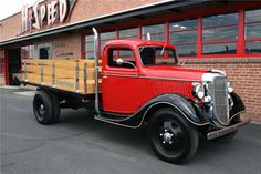 1936 FORD 1-1/2-TON STAKE BED TRUCK - Side Profile - 199227