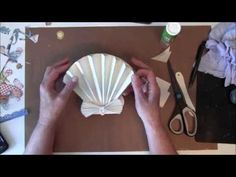 (1) How to make a 3D Sea Shell Easel card with G45 By The Sea Paper collection - YouTube