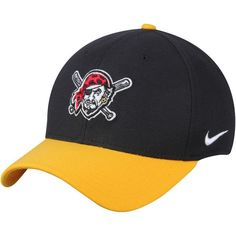 76fd3c8123db36 Pittsburgh Pirates Nike Swoosh Mesh Back Flex Hat - Black -  31.99