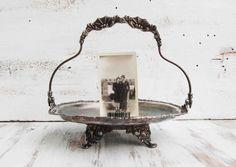Antique Silver Brides Basket