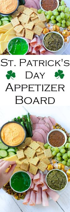 ST. PATRICK'S DAY APPETIZERS BOARD - Add some spice to your St. Patrick's Day celebration with this Irish-themed charcuterie platter. A meat and cheese platter full of traditional foods to celebrate the holiday (without all the work)! St. Patrick's Day Appetizers Board - Meat + Cheese Platter w. Naturally Green Foods #LMrecipes #appetizer #appetizers #stpatricksday #charcuterie #entertaining #starters #stpattysday #meatandcheese #foodblog #foodblogger