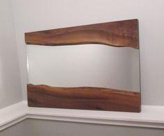 Wall Mirror Walnut Live Edge Wall Mirror by WoodWallWonders