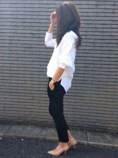 yukoさんのWOMEN⁄シャツ・ブラウス「GU (GU)ボーイフレンドプルオーバー(長袖)」を使ったコーディネート