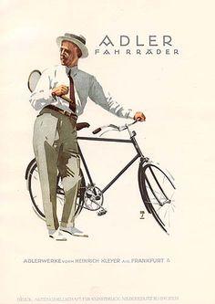 "Original print from ""Ludwig Hohlwein"" by Frenzel, published in Berlin in 1926. Adler Fahrräder"