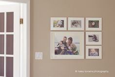 This little wall at the top of my stairs makes me smile from ear to ear. It is where I am displaying family photos. I call it my wall of happiness. My own family captured and displayed in a simple, modern and smile-worthy way. Are your walls this happy?