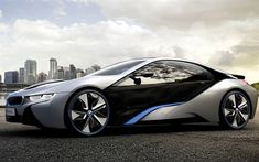 Download wallpapers BMW i8, supercars, 2018 cars, parking, new i8, BMW
