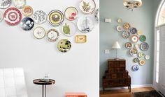 Decorare una parete con i piatti [beautiful display of plate collection]