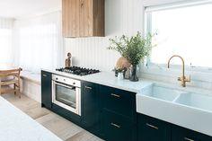 Kyal and Kara's Toowoon Bay Reno kitchen with Wideline windows. www.wideline.com.au