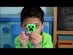 Minecraft Creeper Perler Beads Keychain Tutorial - Abe shows you how to make a Minecraft Creeper keychaing using perler beads. The Minecraft Creeper can also...