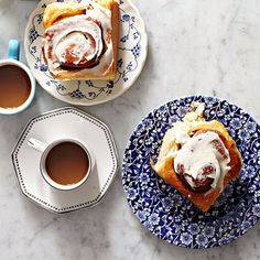 Potato Cinnamon Rolls - The day before you're making a big breakfast, prep these gourmet cinnamon rolls. The next morning, it's just as easy as baking the store-bought kind—but they taste better. #CinnamonRollRecipe #CinnamonRollsFromScratch