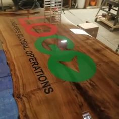 Live Edge Epoxy Walnut conference table making it's way through the shop! Going to be paired with U-shaped legs (powdercoat matte black). Made by MW Industrial Design. Visit our website to see more products and place an order. Custom orders welcome!
