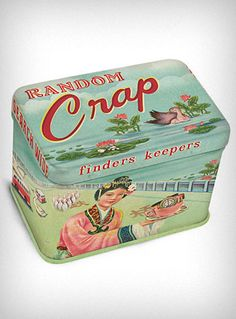 This is awesome.  Time to get the Mod Podge out and make my own version. Random Crap Mini Treasure Tin | PLASTICLAND
