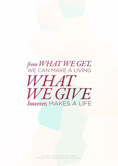 What We Give | Striking Truths