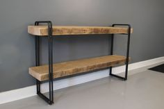 Bookcase, Shelving Unit, Reclaimed Wood Industrial Steel, Furniture
