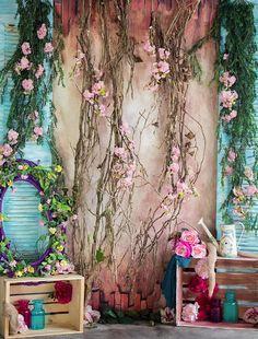 Spring Door Vines 2 backdrops Easter