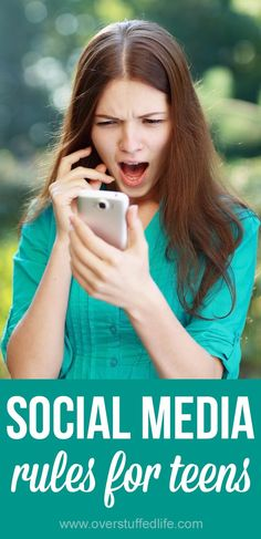 Social media rules for teens. How to keep your kid smart when it comes to sharing on text messages, Facebook, Instagram, and other social media.