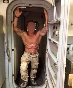 Muscle navy seal pound his fella