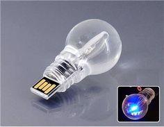 Light Bulb Shaped 32gb USB Flash Drive